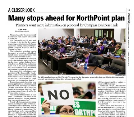 NorthPoint's Application Incomplete — Many Steps Ahead