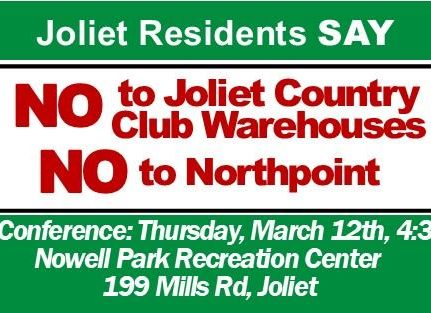 "Pastors, Joliet Residents Hold ""Just Say No"" Press Conference"